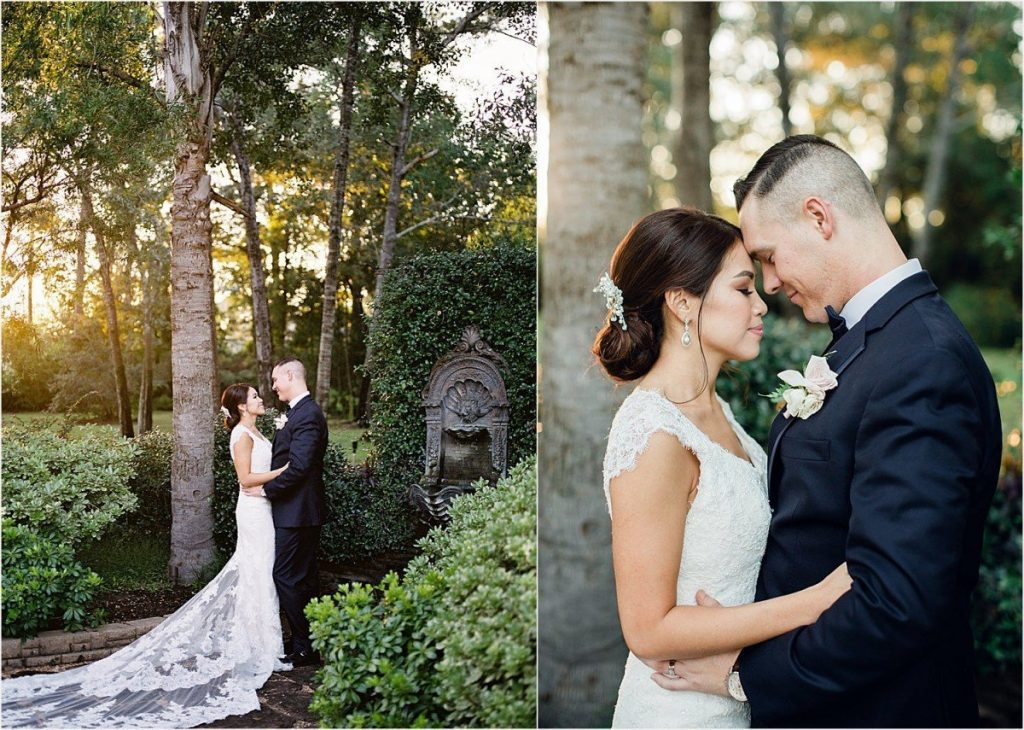 bride and groom portraits at Chateau Polonez wedding