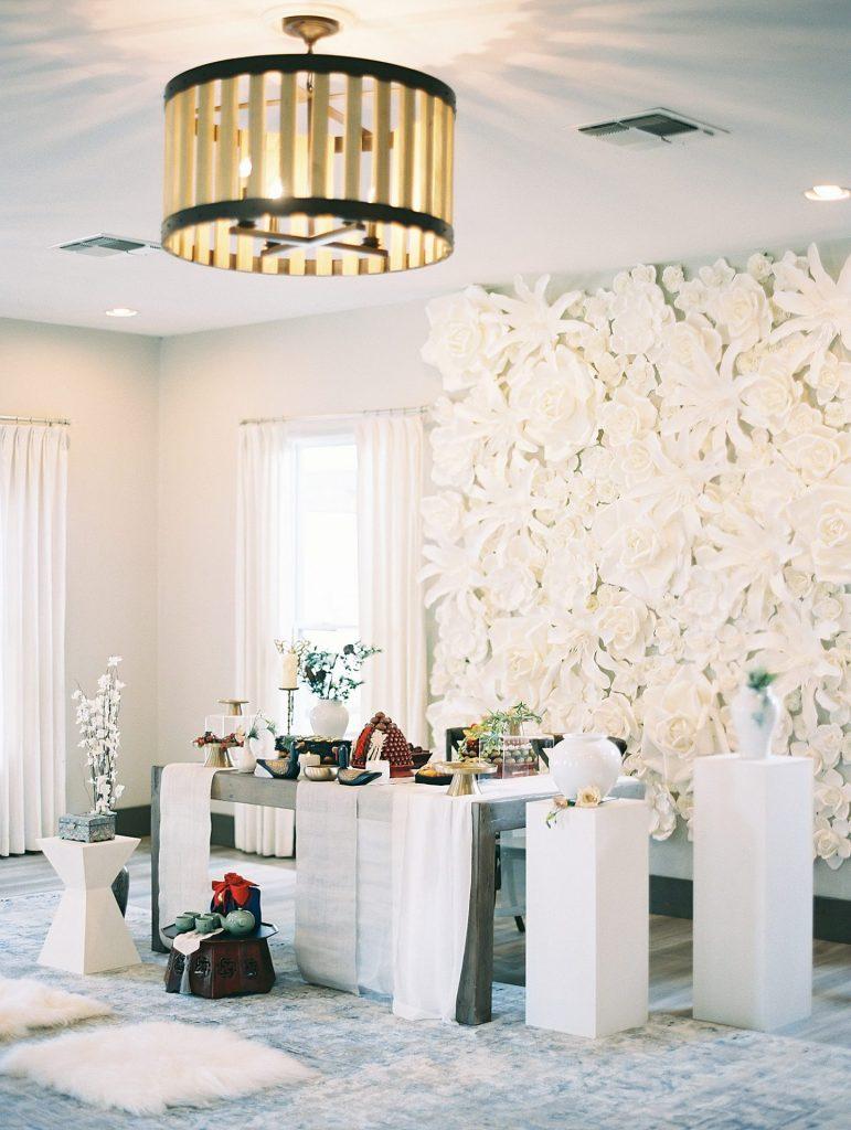Stonehouse Villa wedding reception table