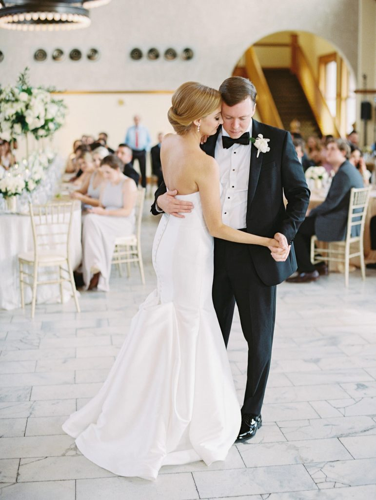 couple's first dance captured by Texas wedding photographer