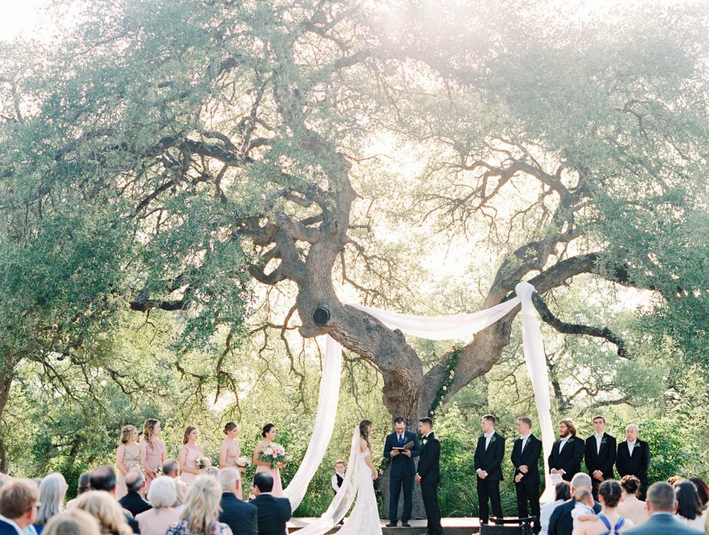 a wide photo of the whole ceremony