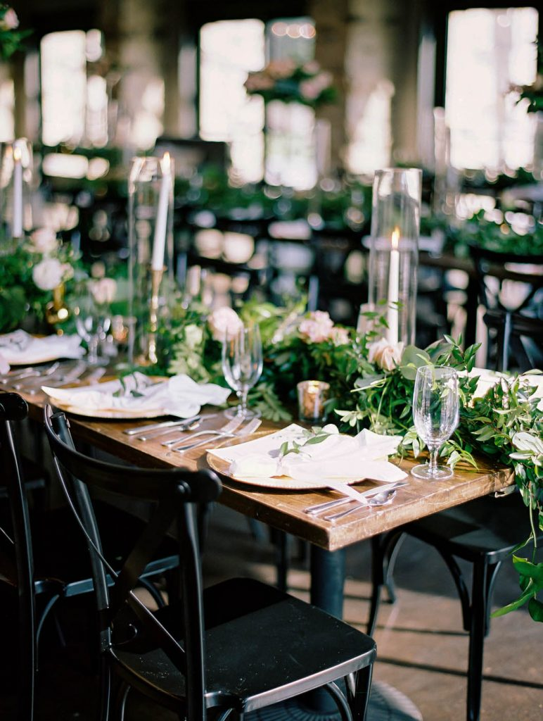 the modern place setting at Park 31