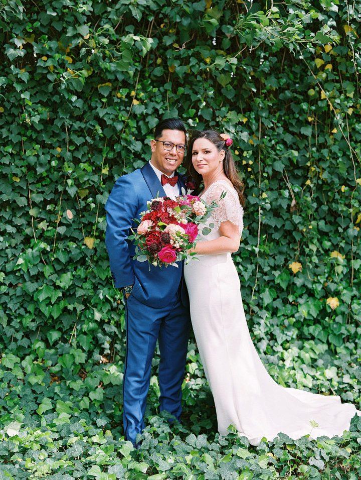 wedding portrait of couple by top Austin wedding photographer Lucy Struve