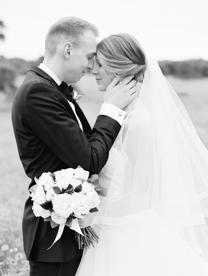 black and white portrait of couple from top Austin wedding photographer Lucy Struve