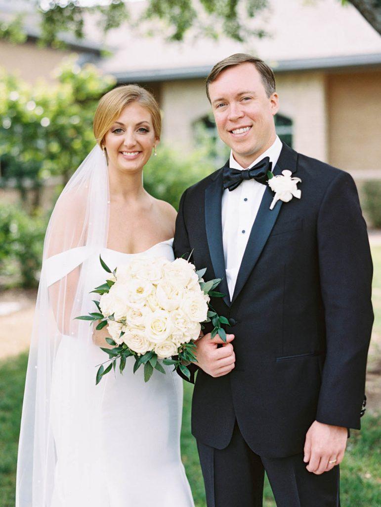 classic bride and groom portrait