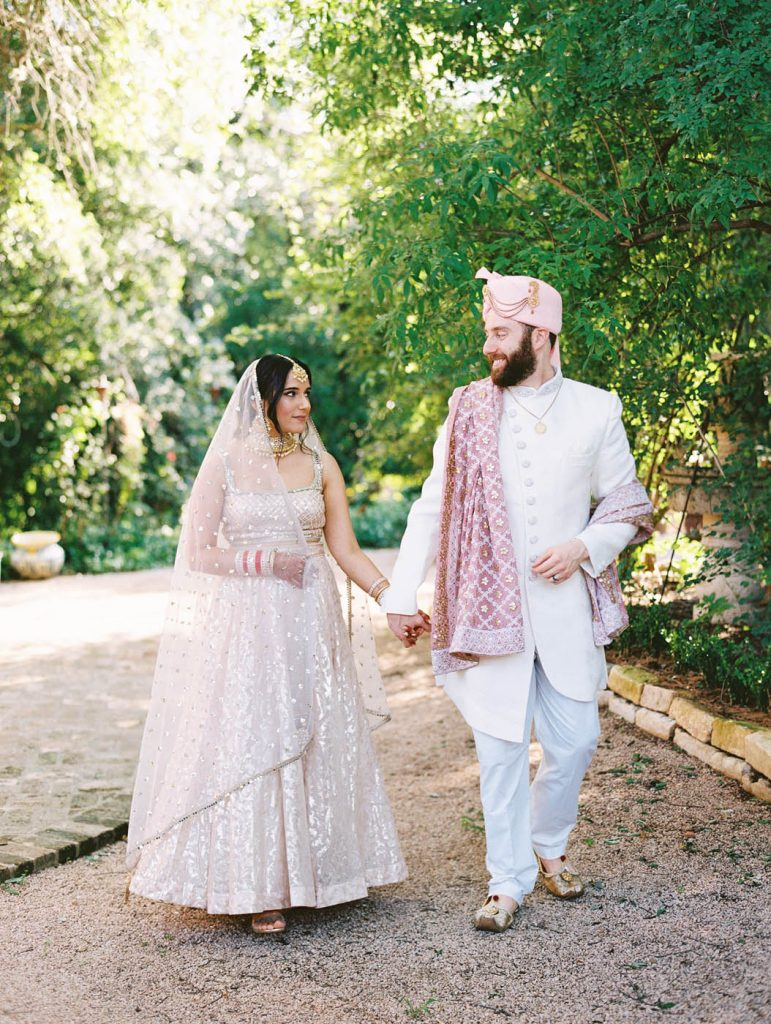 the indian bride and her groom