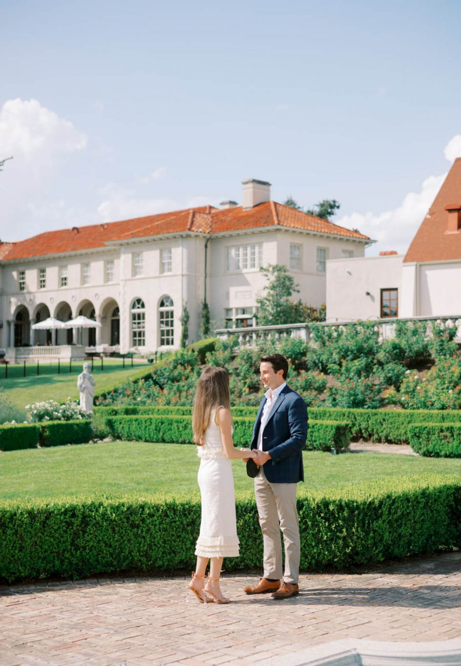 A proposal in the garden of the Commodore Perry in Austin, Texas